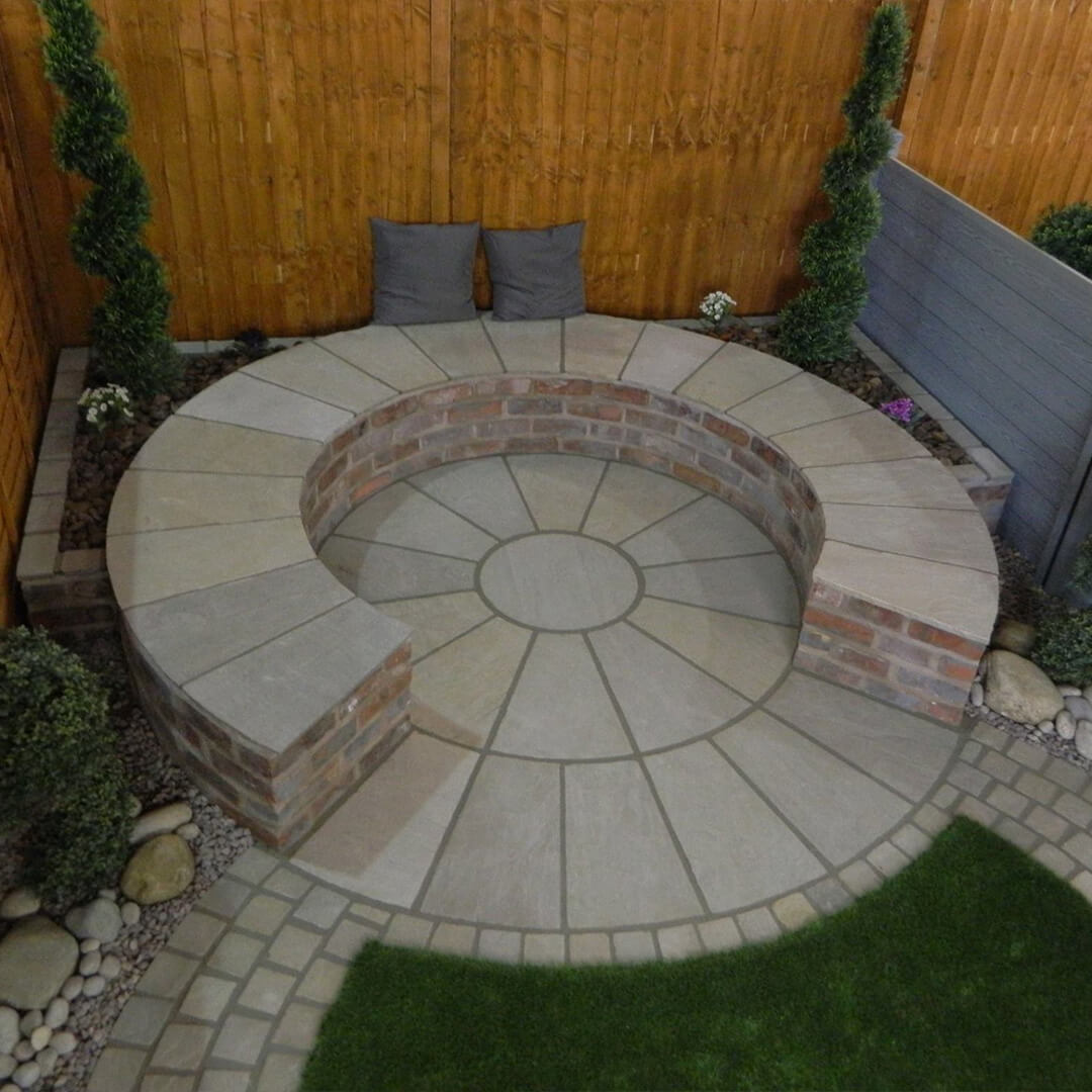 Indian Sandstone Circle seating area