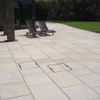 Yellow Granite Paving In situ2