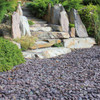 Plum Slate Chippings In situ1