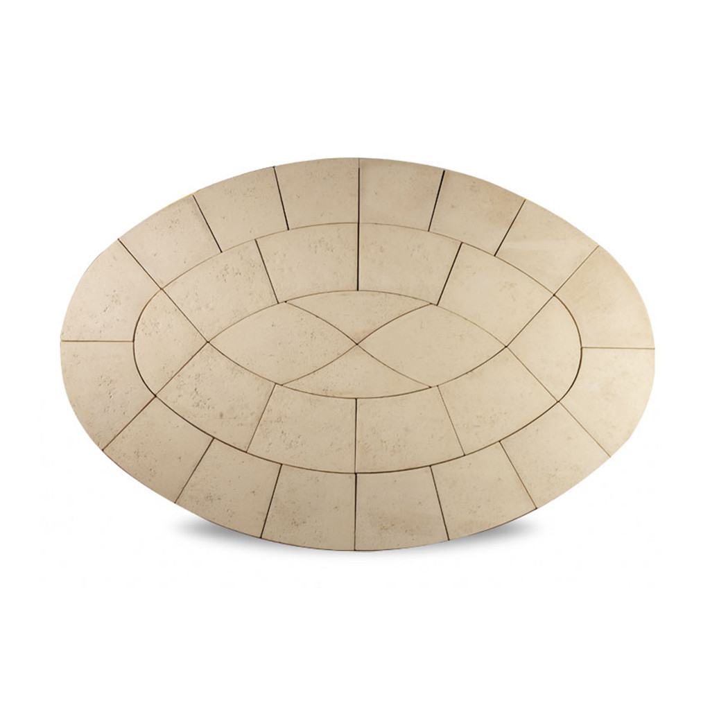 Baroque Oval 3.2m2 Limestone