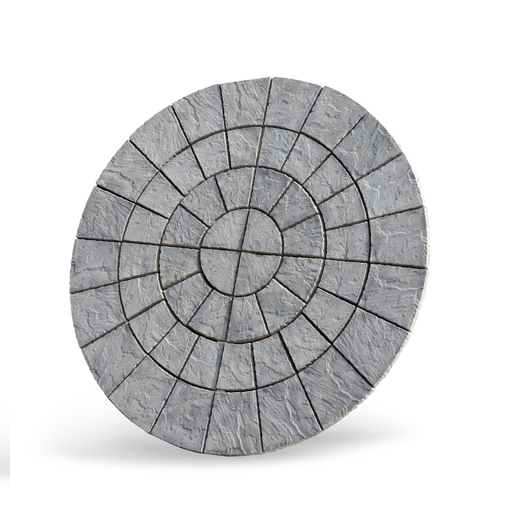 Cathedral Paving Circle 2.56m Weathered Moss
