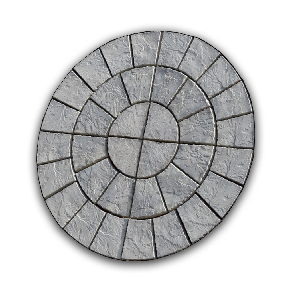 Cathedral Paving Circle 1.8m Weathered Moss