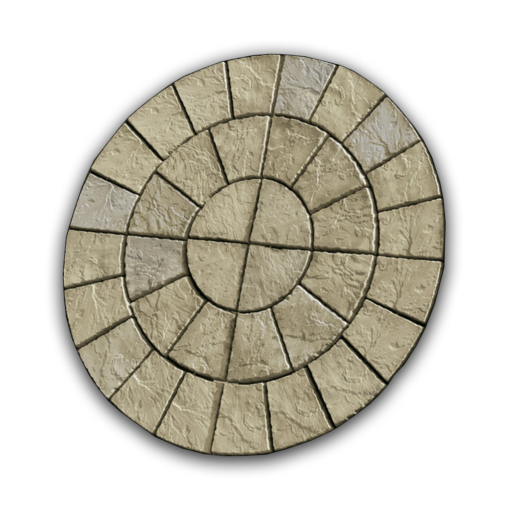 Cathedral Paving Circle 1.8m Weathered York