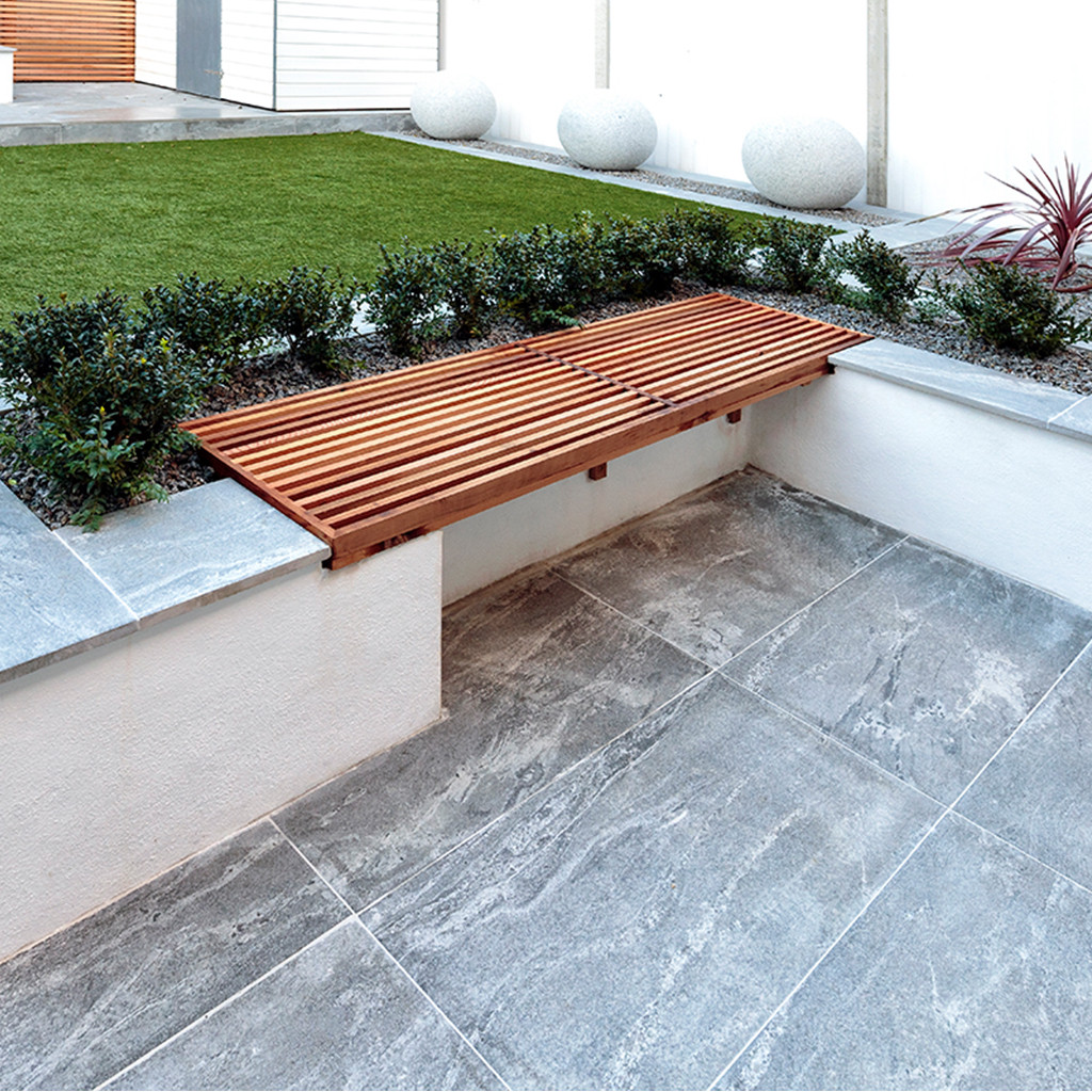 Nero Santiago Porcelain Paving Private Garden