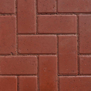 Lakeland Driveway Red Block Paving Wet