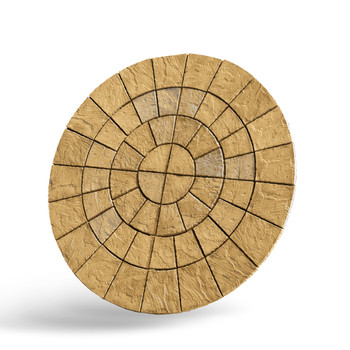 Cathedral Paving Circle 2.56m Barley