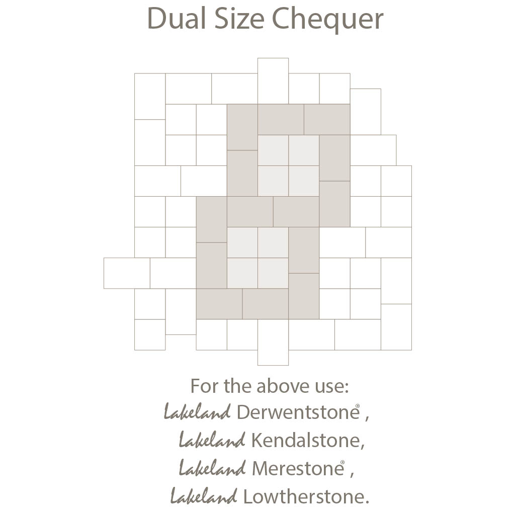 Dual Size Chequer Laying Pattern - Duel Sized Block Paving