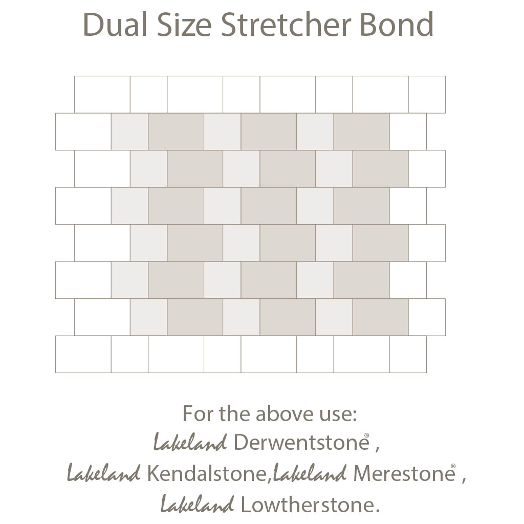 Dual Size Strethcer Bond Laying Pattern - Duel Sized Block Paving