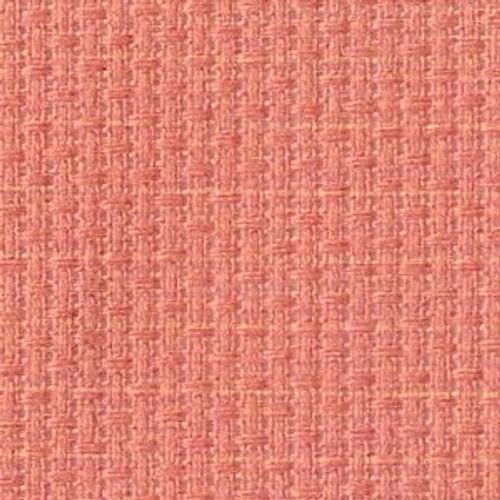 Coral Solid Color Cross Stitch Fabric