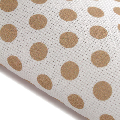 Stone Polka Dots - Patterned Cross Stitch Fabric