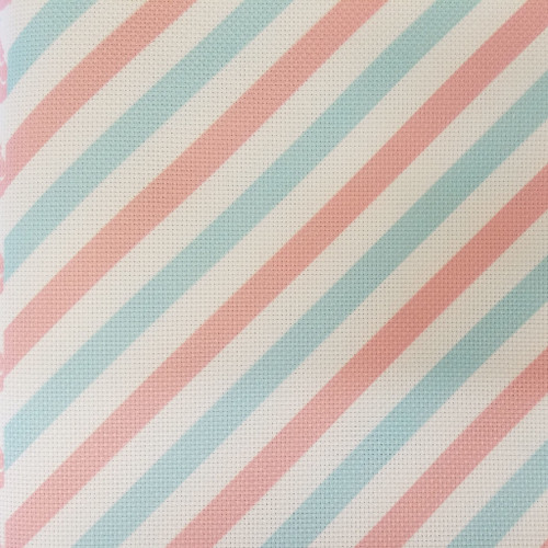 Vintage Christmas Stripes  - Patterned Cross Stitch Fabric