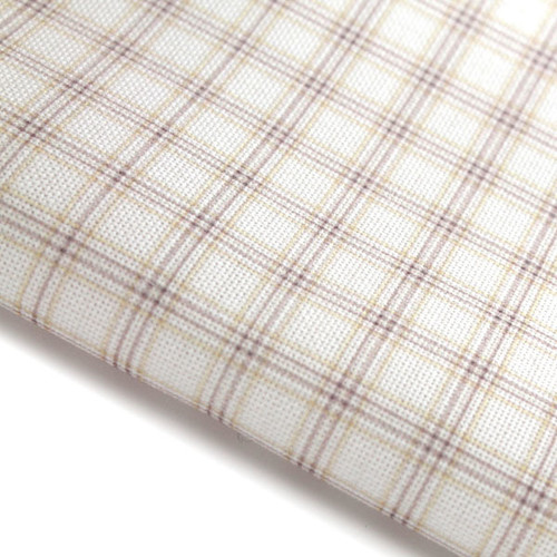 Blue and Yellow Check - Patterned Cross Stitch Fabric