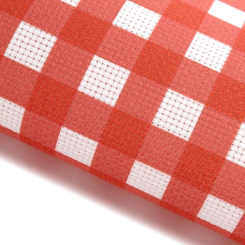 Red Gingham - Patterned Cross Stitch Fabric