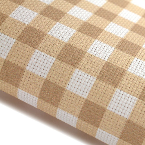 Stone Gingham - Patterned Cross Stitch Fabric