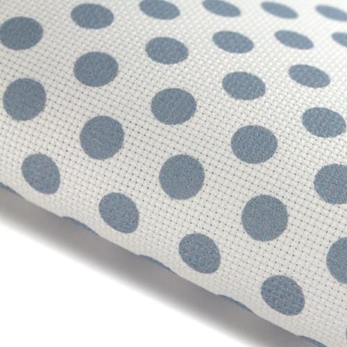 Blue Polka Dots - Patterned Cross Stitch Fabric
