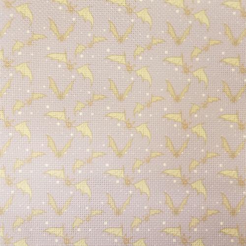 Bats on Purple  - Patterned Cross Stitch Fabric