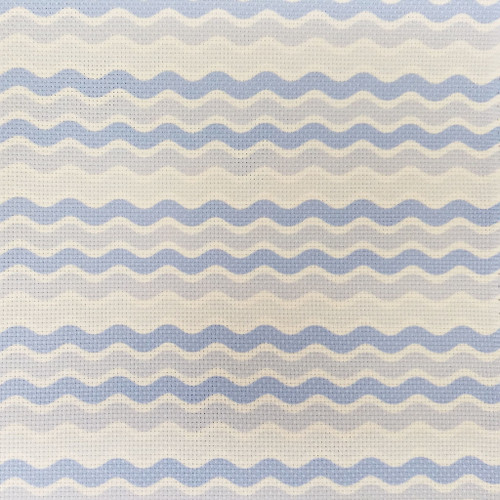 Blue Waves  - Patterned Cross Stitch Fabric