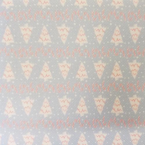 Christmas Trees & Peppermint  Cross Stitch Fabric