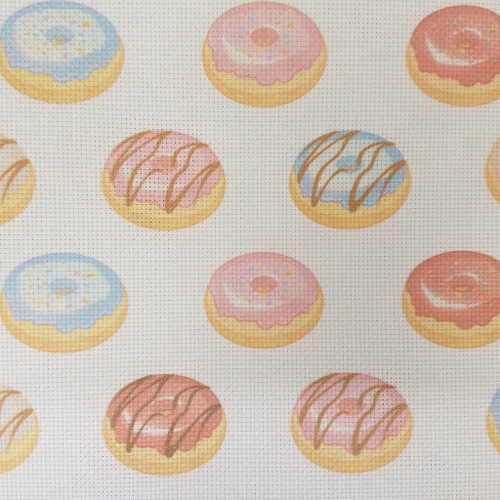 Doughnut Time   - Patterned Cross Stitch Fabric