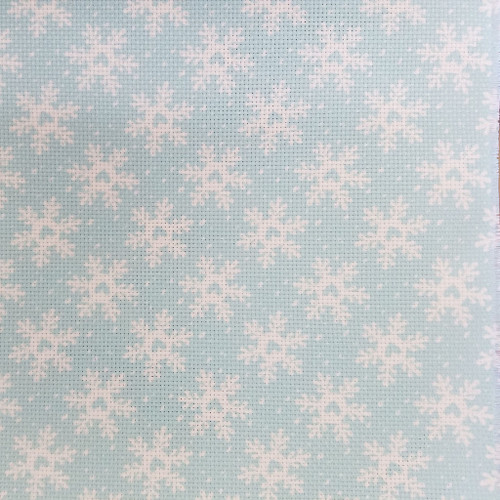 Funky Snowflakes   - Patterned Cross Stitch Fabric