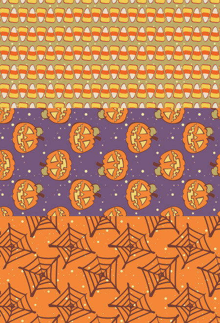 Halloween Trio  - Patterned Cross Stitch Fabric Collection