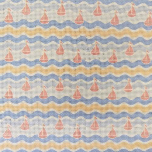 Sailboats & Waves - Patterned Cross Stitch Fabric