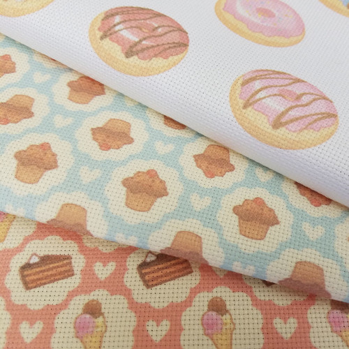 Sweet Things Trio - Patterned Cross Stitch Fabric Collection