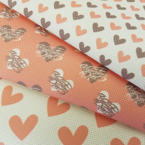 Valentine's Day Trio  - Patterned Cross Stitch Fabric Collection