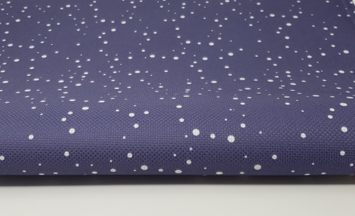Navy with White Snow - Patterned Cross Stitch Fabric