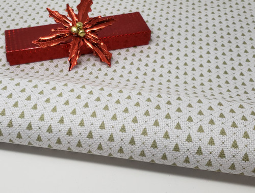Retro Christmas Trees - Patterned Cross Stitch Fabric