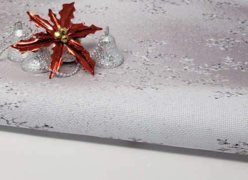 Big Silver Snowflakes - Patterned Cross Stitch Fabric