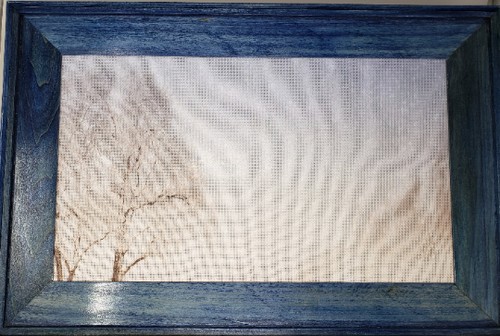 Cross Stitch frame blue