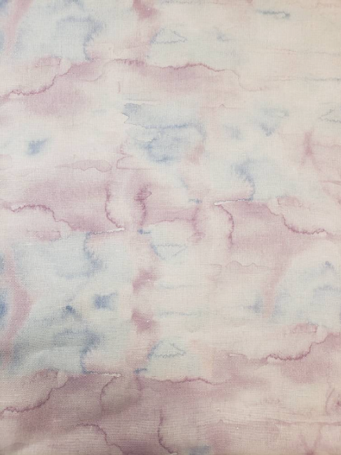 Watercolor Whisps Purple & Blue Hand Dyed Effect