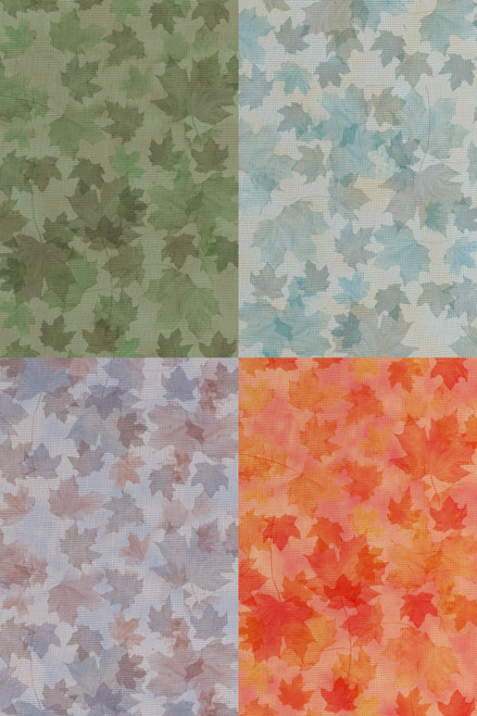 Autumn Medley  - Patterned Cross Stitch Fabric