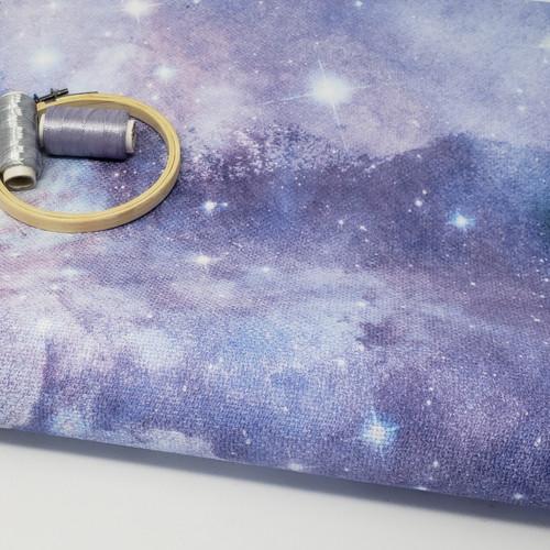 Purple Galaxy cross-stitch fabric