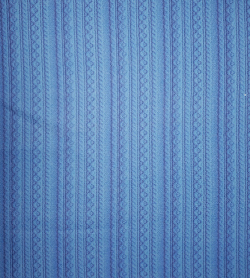 Blue Knit Cross-stitch Fabric