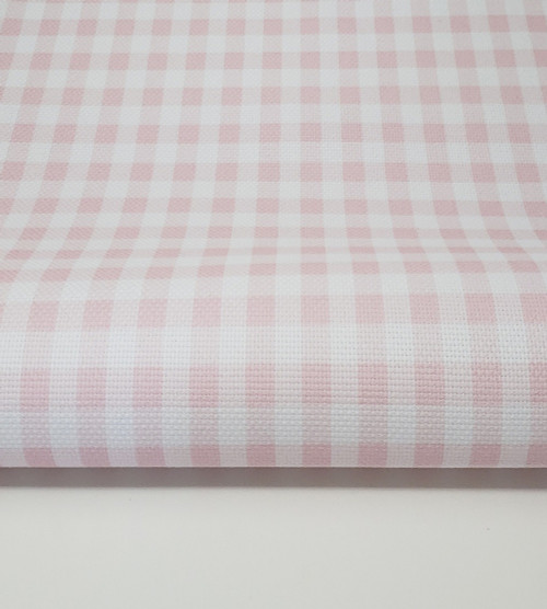 Pink Gingham Cross-stitch Fabric