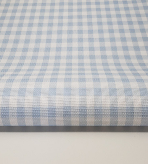 Light Blue Gingham Cross-stitch Fabric