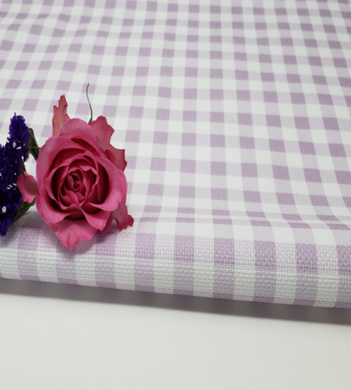 Purple Gingham Cross-stitch Fabric