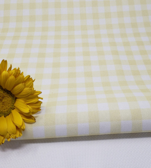 Yellow Gingham Cross-stitch Fabric
