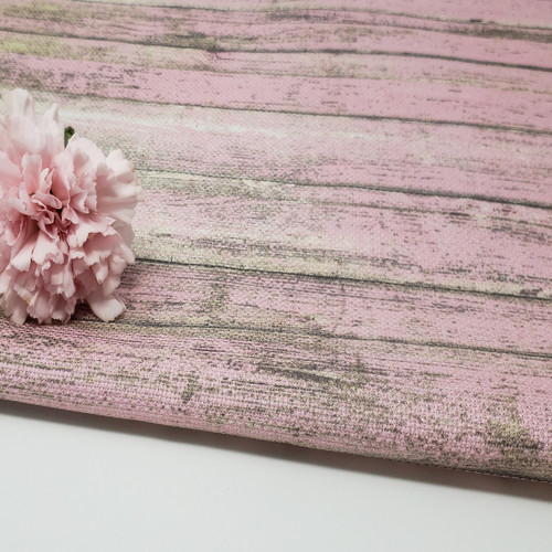 Shabby Chic Wood Pink Cross-stitch Fabric