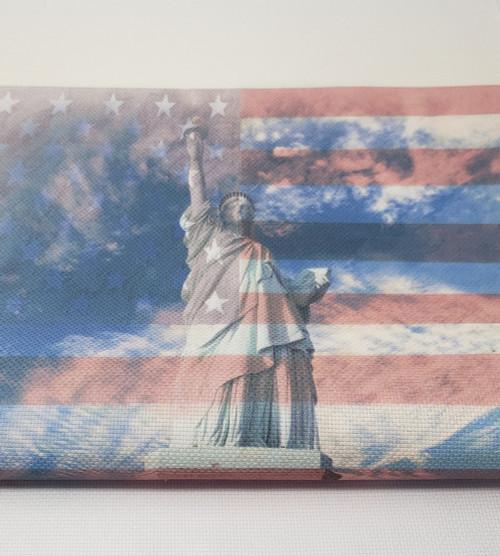 Lady Liberty and Flag - Patterned Cross Stitch Fabric