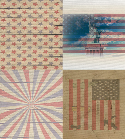 4th of July  Medley - Patterned Cross Stitch Fabric