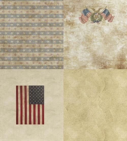 Patriotic Medley - Patterned Cross Stitch Fabric