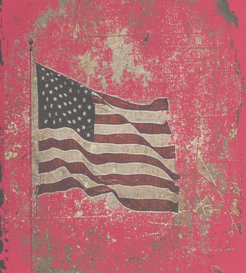 Grunge Flag - Patterned Cross Stitch Fabric