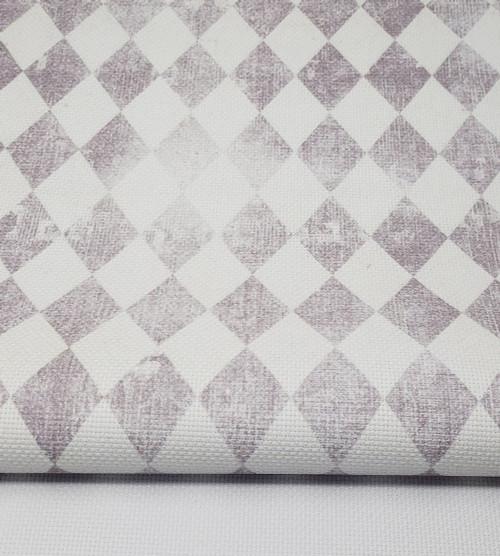Vintage Grey Gray Harlequin Diamonds Cross Stitch Fabric