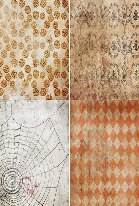 Vintage Halloween Medley Cross Stitch Fabric