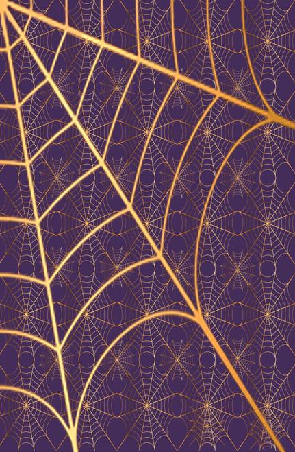 Purple with Gold Cobwebs Cross Stitch Fabric