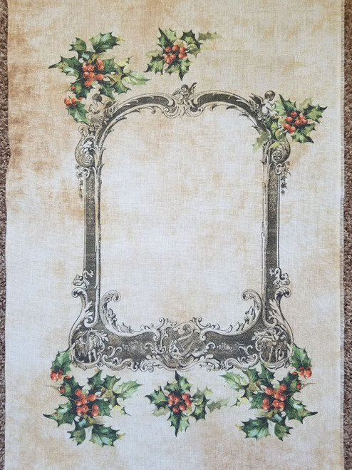 Victorian Christmas Frame Cross Stitch Fabric