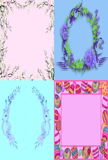 Egg Frame Medley #1 Cross Stitch Fabric